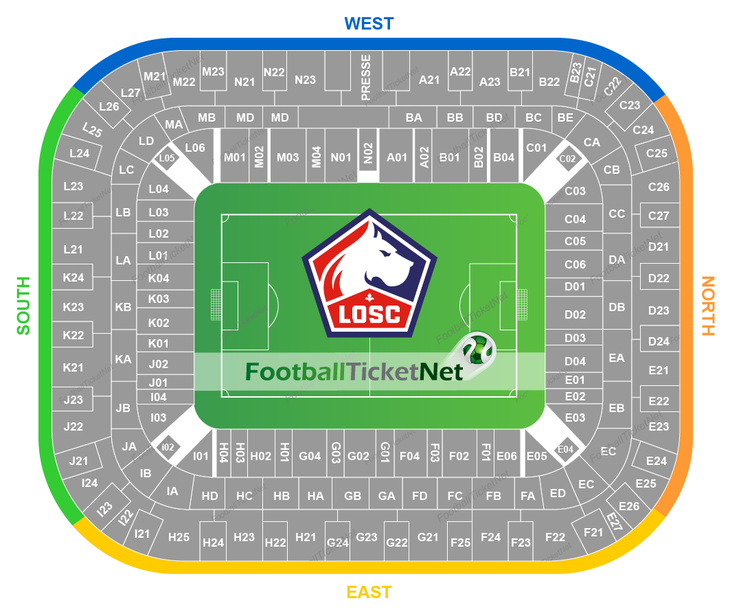 Lille OSC vs Montpellier HSC at Stade Pierre-Mauroy on 18 ...